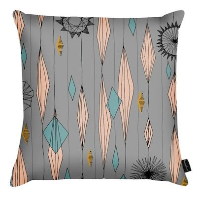 Grey diamond cushion