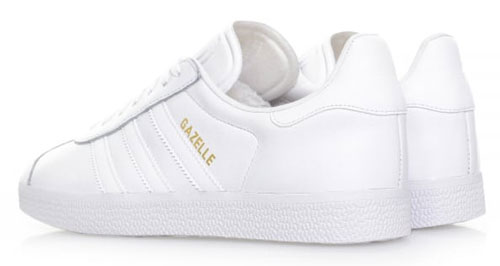 Adidas Gazelle All White Leather