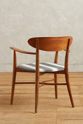 Elliptic dining chair back