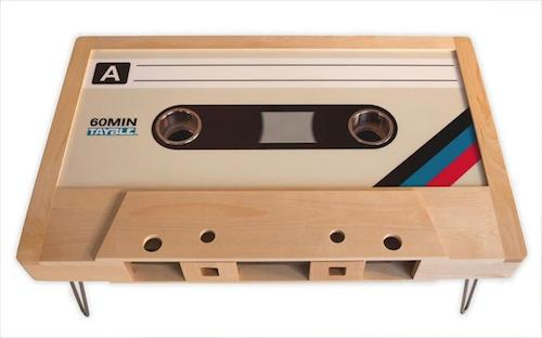 Retro cassette table