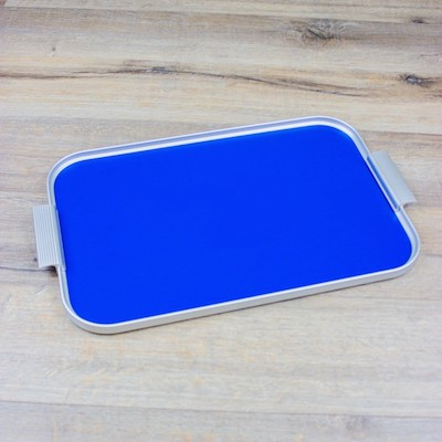 Blue kaymet ribbed tray