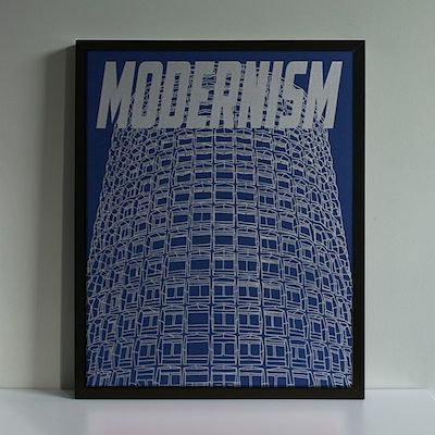 Modernism screenprint