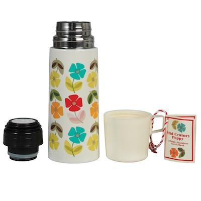 Mid century poppy flask