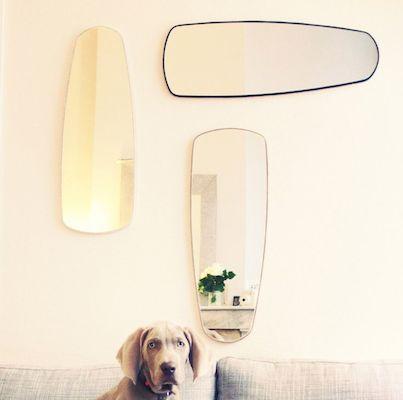 Vintage mirror cachette