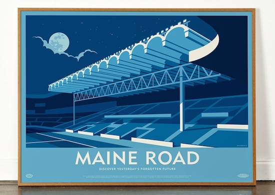 Maine road print
