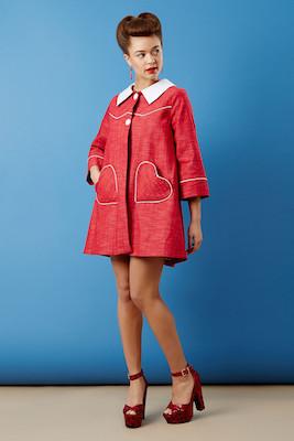 Loveheart coat tara starlet