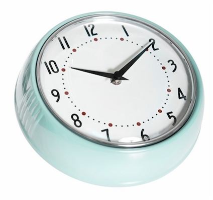 Farg form clock turquoise
