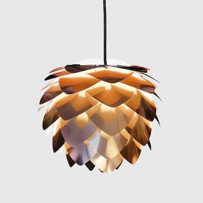 Artichoke style copper cone lampshade from att pynta retro to go copper cone pendant aloadofball Image collections