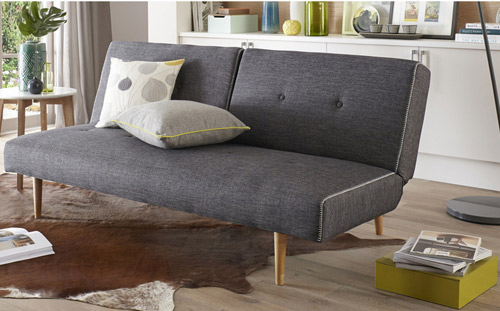 Midcentury Inspired Smooth Sofa Bed At Dfs Retro To Go