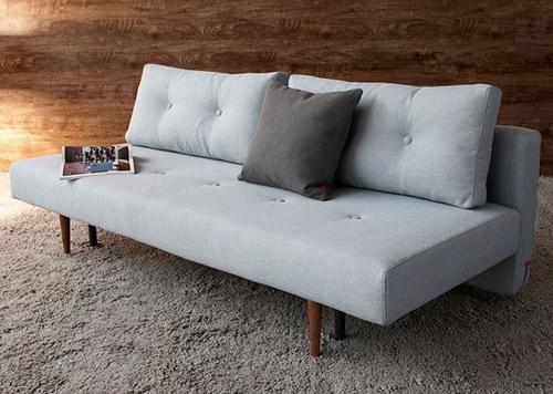 Scandinavian style recast sofa bed at one deko retro to go for Scandinavian style sofa
