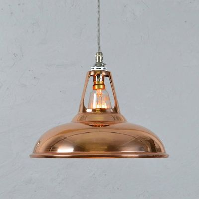Copper industrial lamp