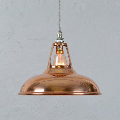 Copper industrial lamp