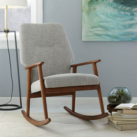 promo code 030a4 bd2d5 Midcentury-style high back rocking chair at West Elm - Retro ...