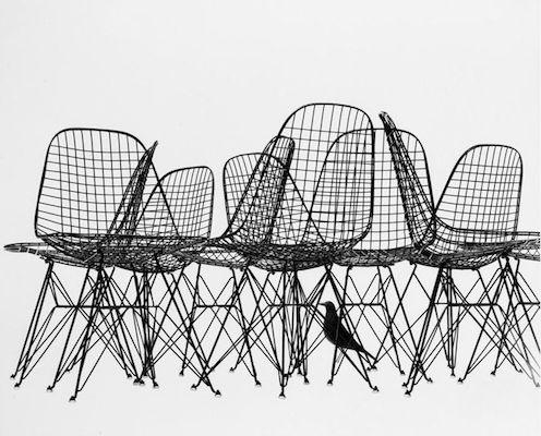Wire chair Eames print