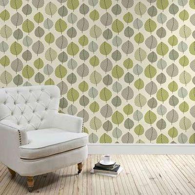 Regan green leaf wallpaper