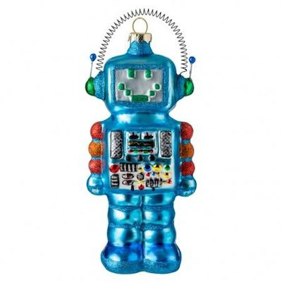 Conran shop blue robot decoration