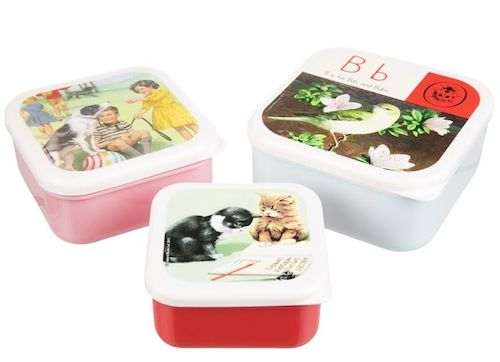 Vintage ladybird nesting boxes