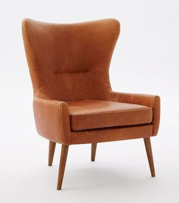 Erik leather wing back chair