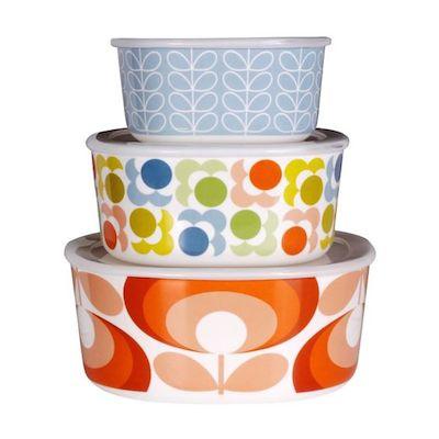 Orla kiely melamine bowles