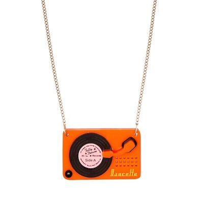 Tatty Devine record player necklace