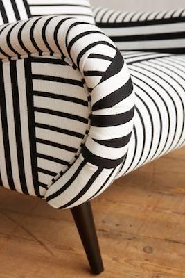 Striped losange chair detail