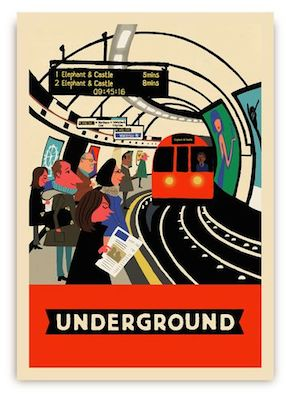 Paul Thurlby underground postcard