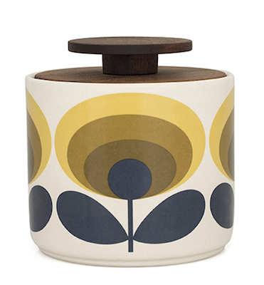 Orla Kiely_70s Flower 1L Storage Jar Yellow