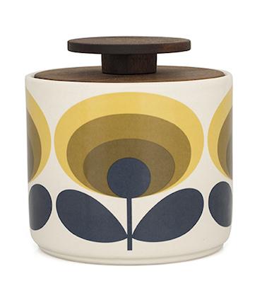 Orla Kiely_70s Flower 1L Storage Jar Yellow