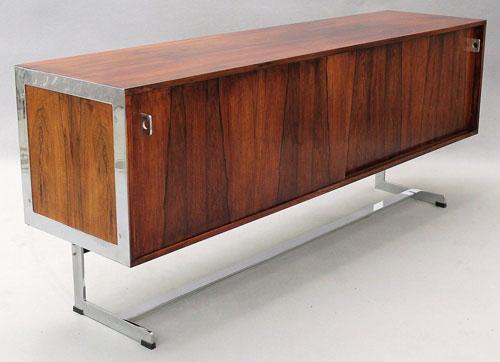 eBay watch 1960s Merrow Associates rosewood and chrome sideboard Retro to Go