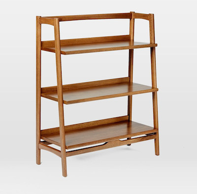 Midcentury bookshelf side