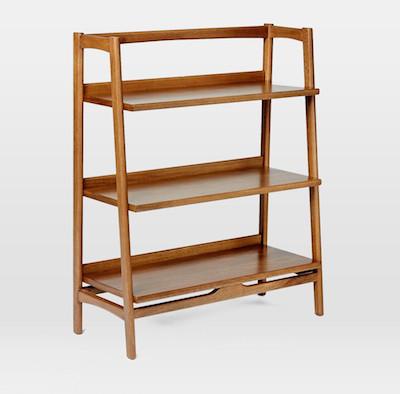 Midcentury bookshelf side