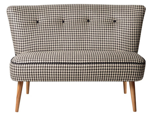 Midcentury-style Le Cocktail sofa, chair and footstool at Oliver Bonas