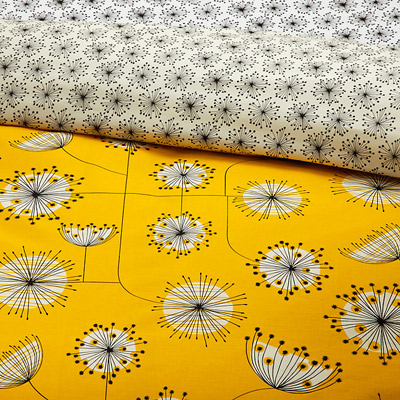midcentury bedding missprint home dandelion duvet cover