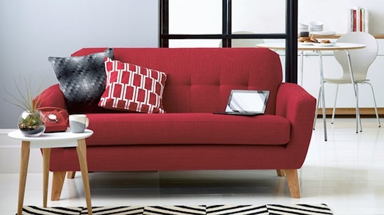 Capri sofa red