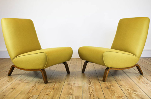Ebay Watch Reupholstered Midcentury Lounge Chairs Retro To Go