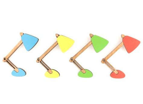 Formica anglepoise brooches