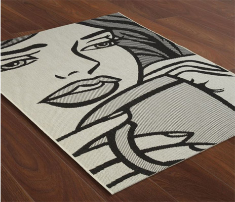 Original Or Even A Signed Print You Ll Be Digging Very Deeply Into Your Bank Account Not So With This Roy Lichtenstein Inspired Le Rug At B Q