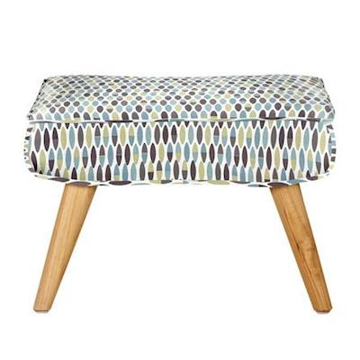 Skandi retro leaf footstool