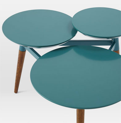 Midcenturyinspired Clover Coffee Table To West Elm Returns In A Hip - West elm clover coffee table
