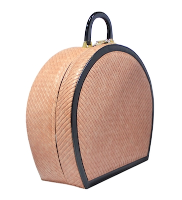 Peach Quilted bag Side