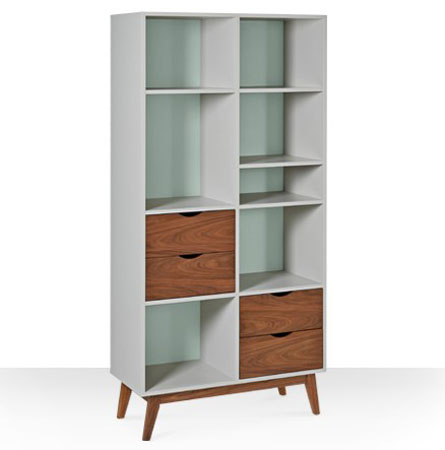 Clifford Midcentury Style Bookcase At Swoon Editions Retro To Go