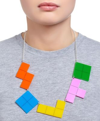 Tatty Devine Tetris necklace