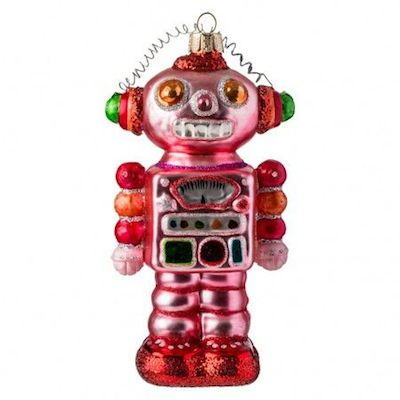 Conran Shop pink robot Christmas decoration