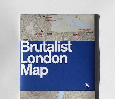 Blue Crow Brutalist london map