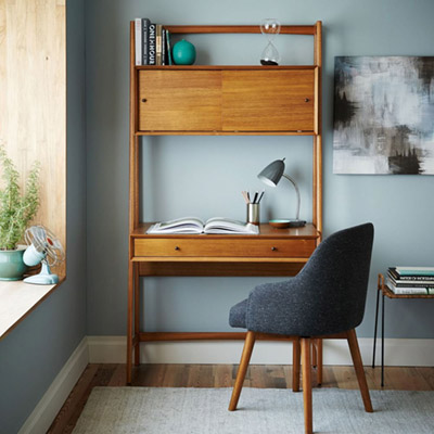 Mid-century-wall-desk