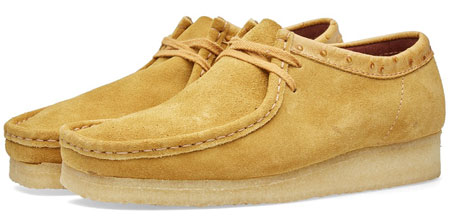ced28bb28 1960s classic reworked  Clarks Originals x Stussy Wallabee shoes