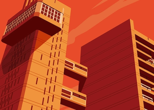Trellick Tower Dorothy detail