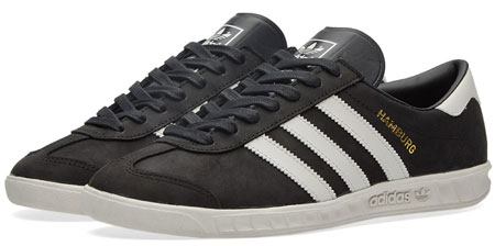 Adidas Hamburg trainers reissued in black and redwood leather ...
