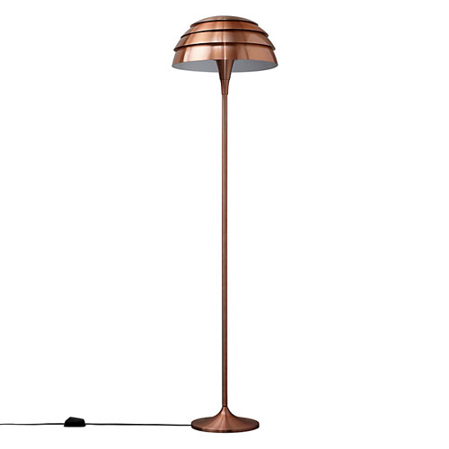 John lewis scandinavian style oslo floor lamp in copper retro to go os2 mozeypictures Gallery