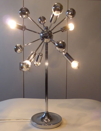 Looking For Some Lighting For Your 1970s Inspired Pad? This Sputnik Style  Chrome Table Lamp Has To Be Worth A Look.